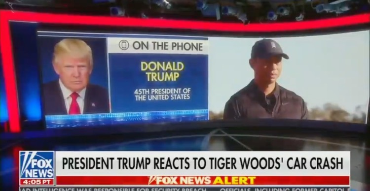 """""""Tiger Will Be Back"""" – President Trump Reacts to Tiger Woods' Car Crash, Offers Words of Encouragement (AUDIO)"""