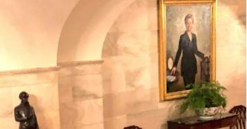 EPIC TROLL: White House Walks Reporters by Hillary Clinton Portrait on Way to East Room for Supreme Court Nomination