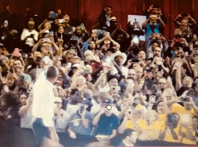 Obama Can't Even Fill Small Las Vegas Pavilion – Partition Added to Make Crowd Size Look Larger – How Pathetic!!