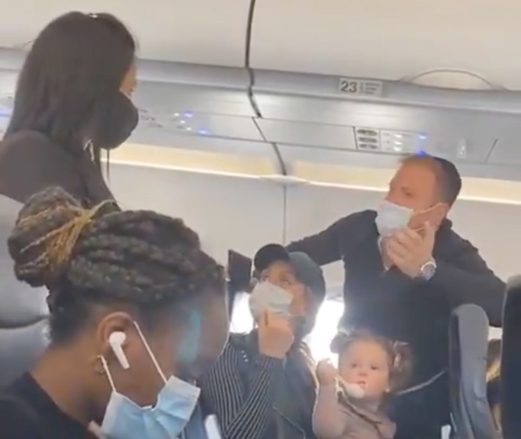 Family Kicked Off Spirit Airlines Flight Because Their 2-Year-Old Child Who Was Eating, Wasn't Wearing a Mask *Updated* (VIDEO)