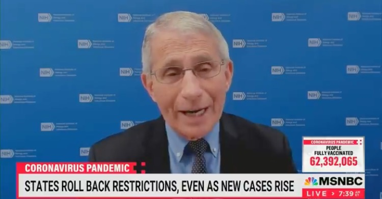 'It Can Be Confusing…I'm Not Really Quite Sure' – Fauci on Texas Covid Cases Dropping Despite Ignoring His Advice on Masks, Social Distancing (VIDEO)
