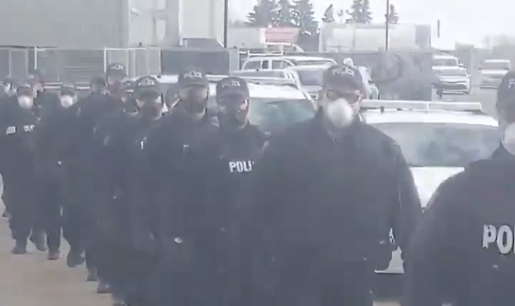 """The Shock Troops Are Coming!"" – 200 Heavily-Armed Canadian Police Deployed to Edmonton Church to Harass Christians (VIDEO)"