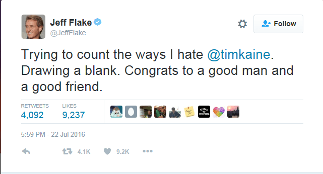 Jeff Flake Tweet