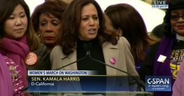 With Her Eye on 2020, Sen. Kamala Harris Calls on Pres. Trump to Resign Over Unproven Sex Harassment Accusations