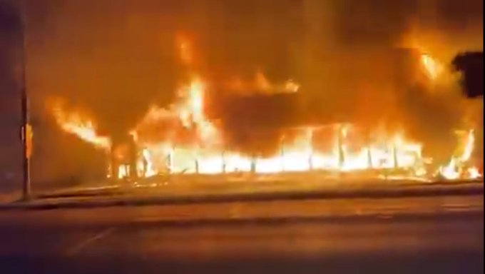 Cars Kenosha: Fire on Black Set Multiple  Buildings by and