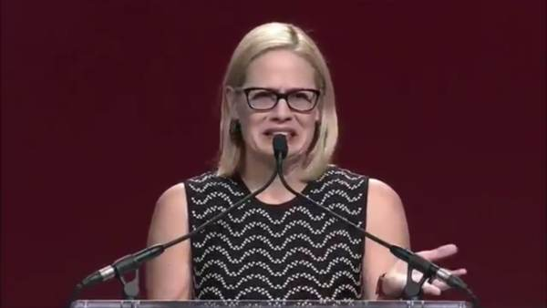Krysten Sinema Shows Utter Disgust For Arizona in March 2018 Speech