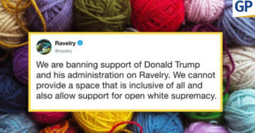 More Censorship: Internet's Biggest Knitting & Crochet Site BANS All Support Of President Trump (VIDEO)