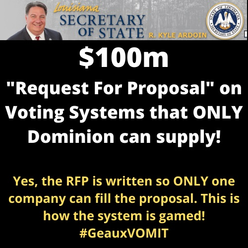INSANE: Louisiana Secretary of State About to Hand Over $100 Million in Voting Machine Purchase – Dominion Is Reportedly In the Running 2