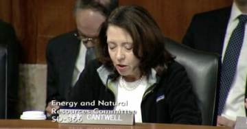 Dem. Sen. Cantwell Wears Patagonia Fleece Jacket at Senate Hearing to Send Message to Trump Admin Over Bears Ears Move