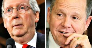 Roy Moore Accuses Swamp Creature Mitch McConnell of Double Standard on Al Franken Sexual Assault Accusations