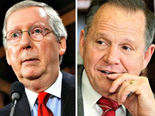 Mitch McConnell Calls on Roy Moore to Step Down over Allegations – But Calls for Review of Al Franken After Proven Sexual Assault