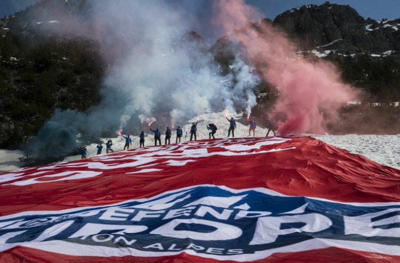 French Patriots Close-Off Alpine Migrant Route Charter Aircraft In Slick High Profile Action