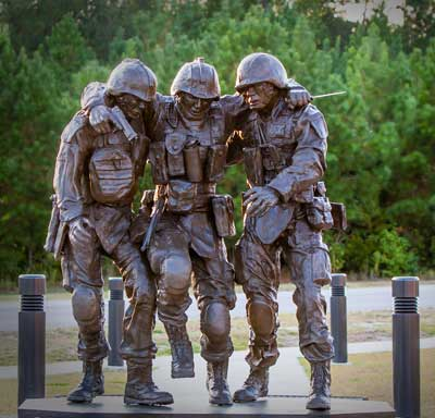 No Man Left Behind Statue