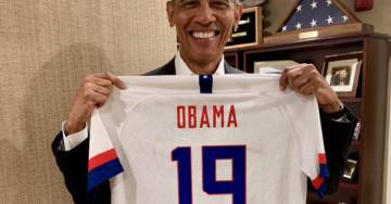 Obama Trolls Trump? Ex-President Posts Photo Holding Personalized US Women's Soccer World Cup Championship Jersey