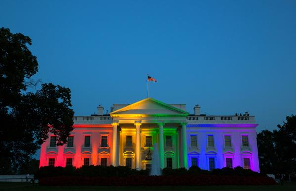 Obama White House Gay Marriage Rainbow