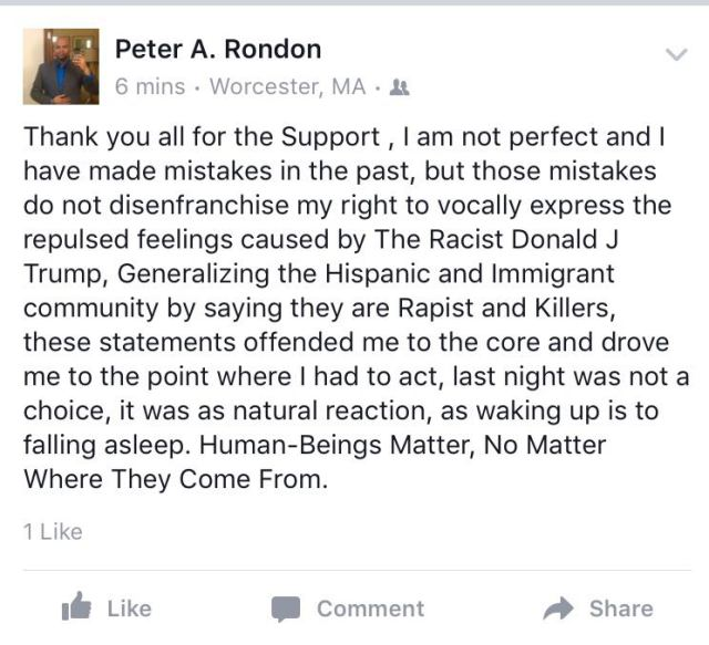 Peter Rondon Statement TurtleBoy