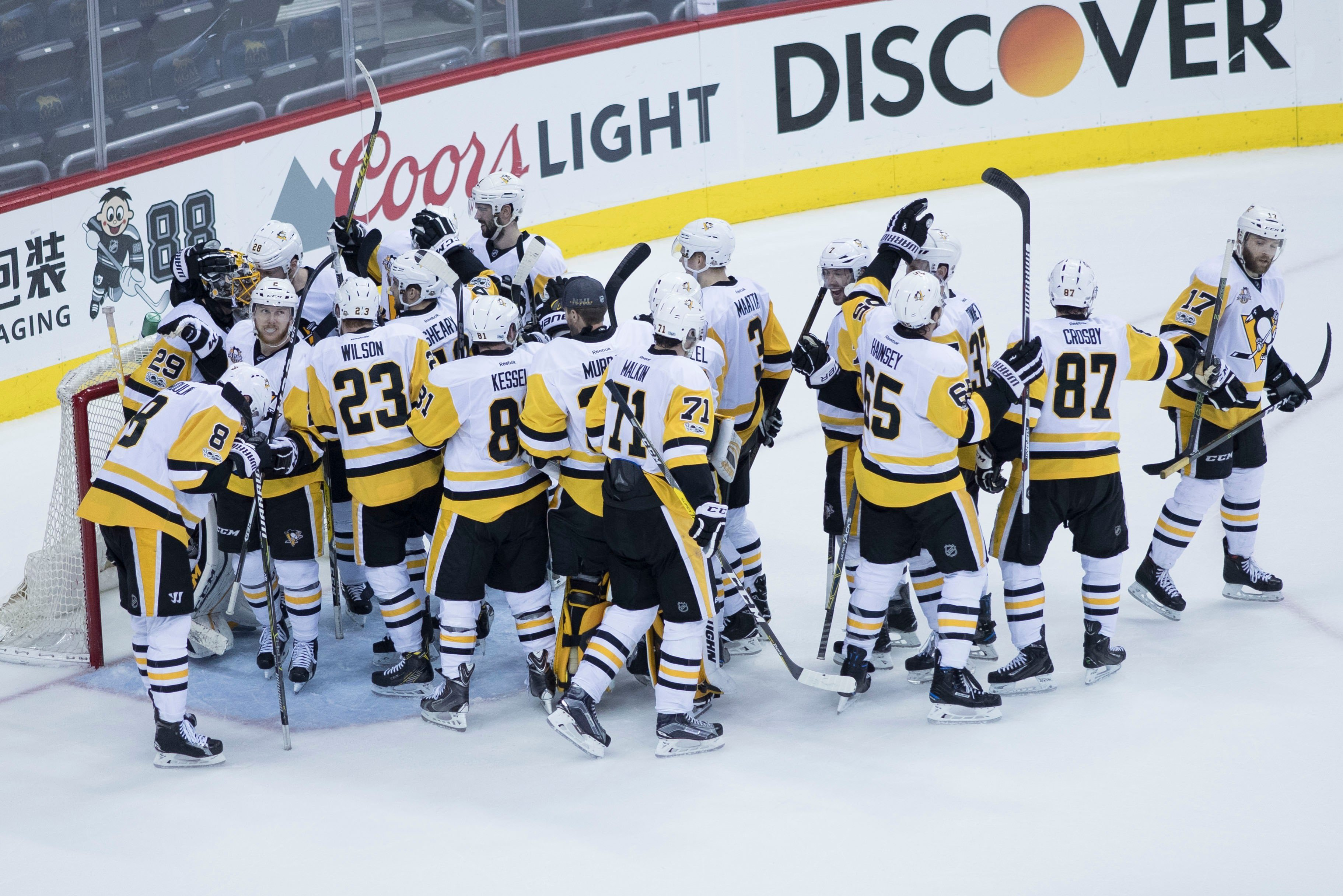 Stanley Cup Champion Pittsburgh Penguins Accept White