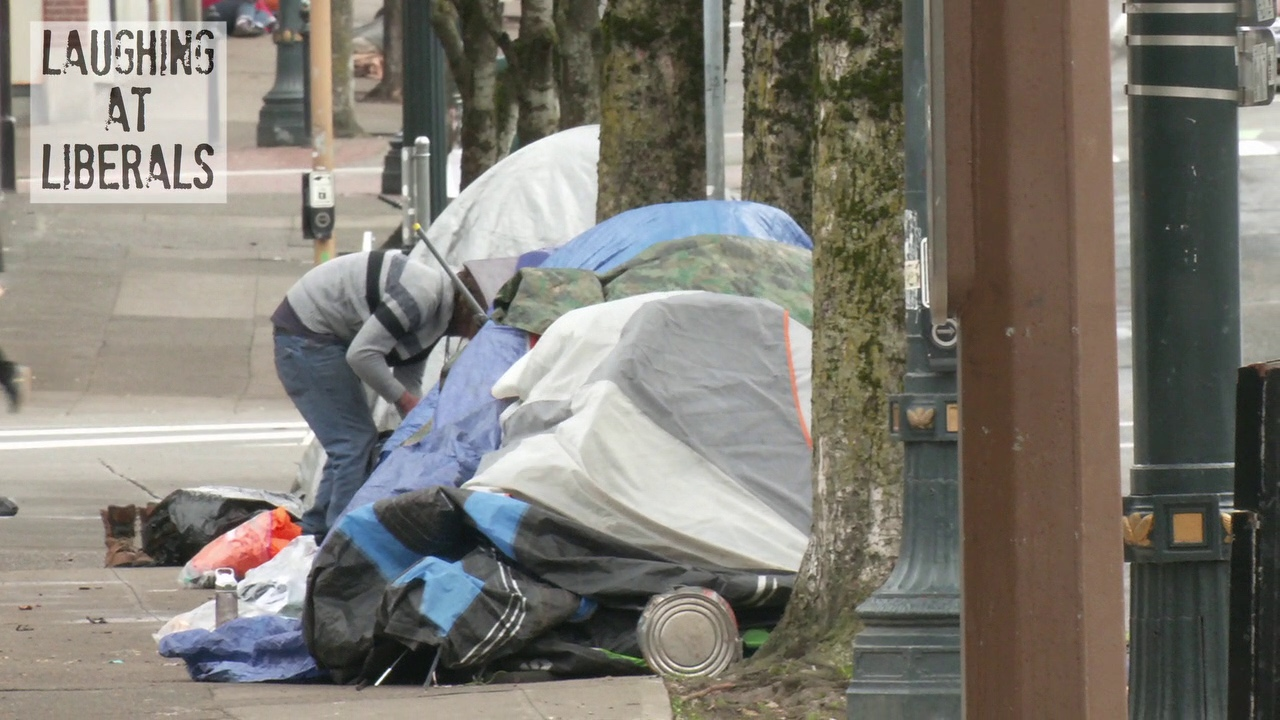 How Far Has Portland Fallen? Video Shows Blight And Misery Of Downtown Full Of Homeless Camps And Abandoned Buildings After a Year of Riots