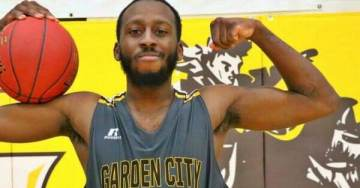 Muslim College Basketball Player Grabs Ball and Shoots Baskets During National Anthem