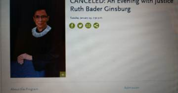 Justice Ruth Bader Ginsburg Cancels Public Appearance in Los Angeles Set for January 29