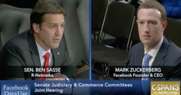 "Senator Sasse Grills Zuckerberg On Conservative Censorship: ""Adults Need to Engage in Vigorous Debates"""