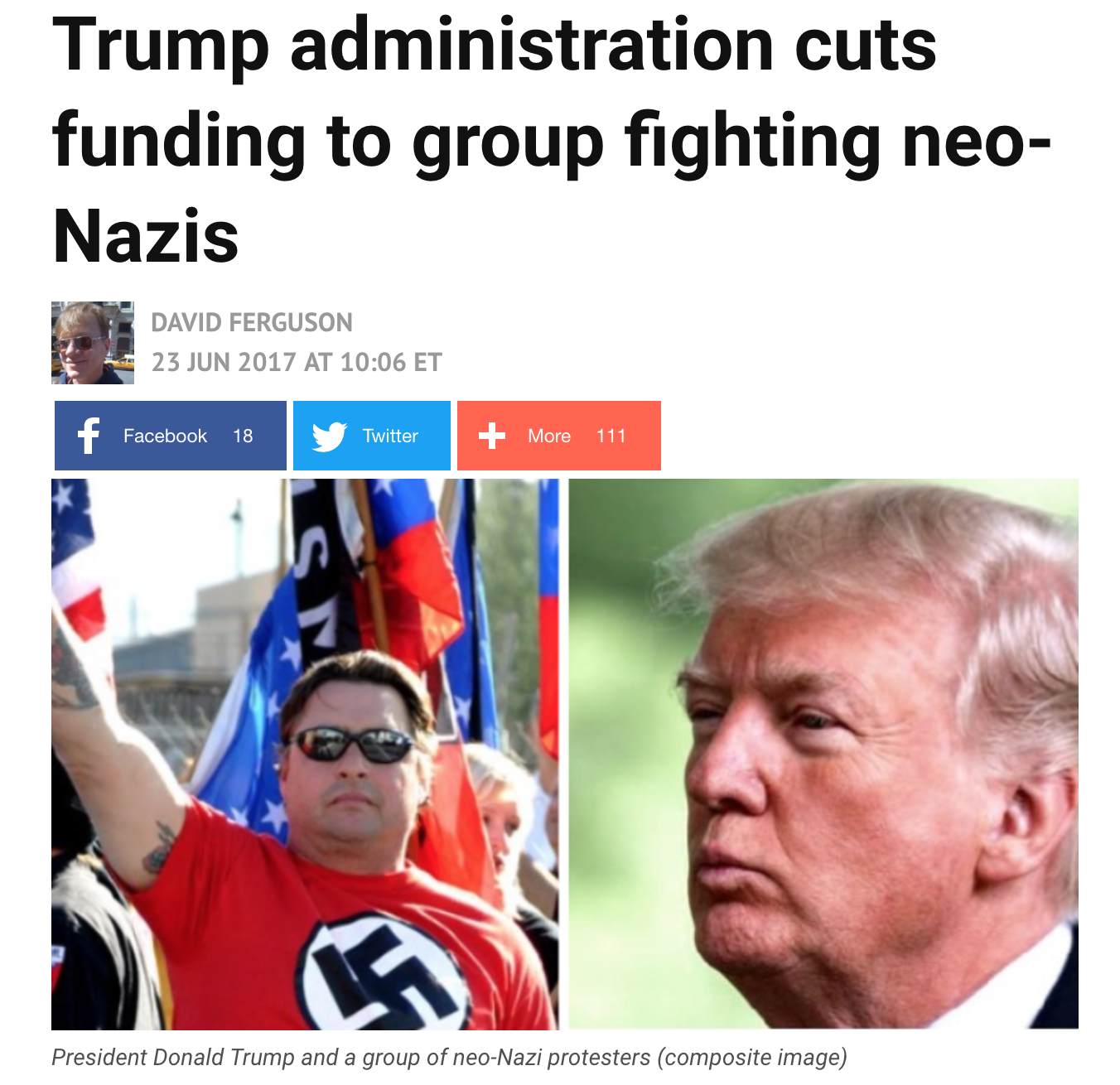 MSM Caught Lying AGAIN Claims That Anti-Trump Propaganda Group Are Neo-Nazi Fighters