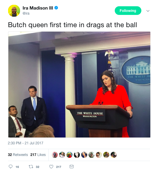 """Screen Shot 2017 07 21 at 6.04.24 PM - Scaramucci Got It Done: Daily Beast Writer Apologizes For Calling Sarah Huckabee Sanders A """"Butch Queen"""""""