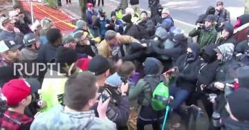 VIDEO => ANTIFA BEATS HEADS At Kate Steinle Memorial March in Portland