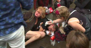 UPDATED! VIDEO Of Man Knocked Unconscious By Antifa At Portland Protest
