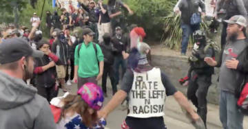 UPDATED: Portland Protest Turns Violent, Antifa Thugs Target Young Girl, Knock Man Unconscious, Hurl Racist Taunt At Black Cop