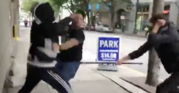 """Police Declare """"CIVIL DISTURBANCE"""" As Brawl Breaks Out At Portland Protest"""