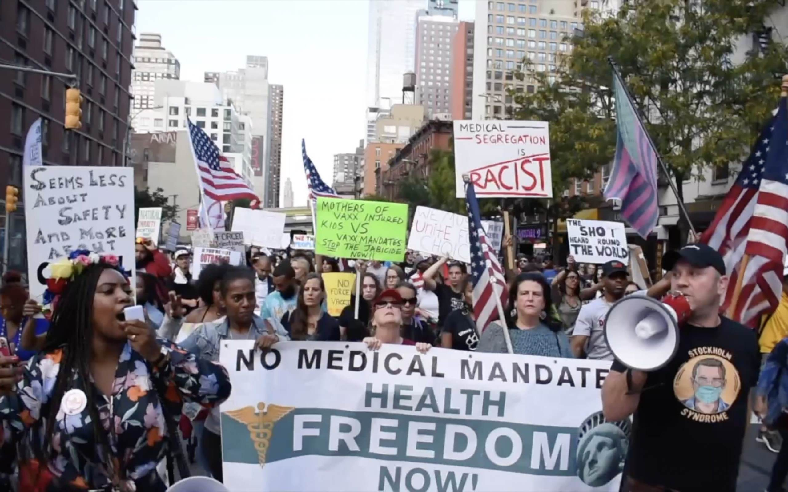 The Sleeping Giant Awakens! New Yorkers Speak Out Against Draconian Vaccine Mandates at Massive Rally! VIDEO featuring RFK Jr. & New Yorkers Tell It Like It Is!