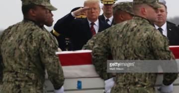President Trump Traveled to Dover AFB on Saturday to Honor Four Americans Killed in Syria