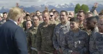 Great Videos: President Trump Meets Troops in Alaska on Way to Japan