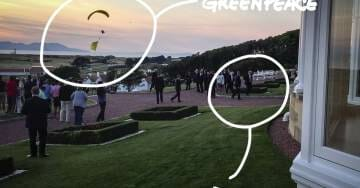 Major Breach as UK Security Allowed Protesting Paraglider to Fly Within Yards of Trump in Scotland–and Then Escape!