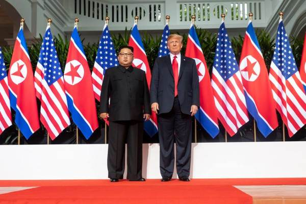 Kim Jung Un and Donald J. Trump