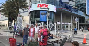 Trump Supporters Start Lining Up Nearly Two Days Before Tuesday Night's Massive Orlando Reelection Campaign Kickoff Rally