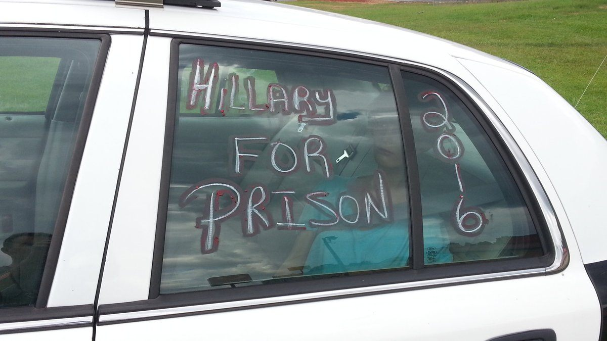 Trump Police Car Fan Art Hillary Twitter
