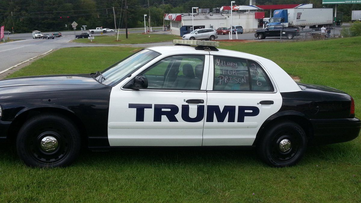 Trump Police Car Fan Art Twitter