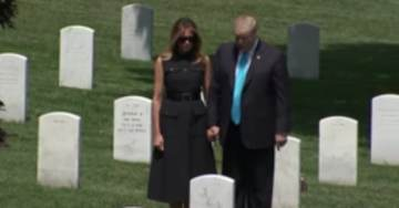 #MemorialDay President Trump and First Lady Melania Visited Arlington Cemetery Before Japan Trip (Video)