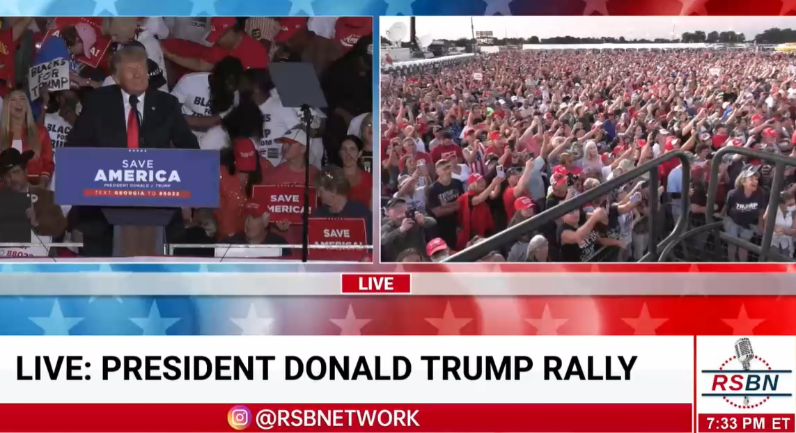 """""""We're Going to Take Back Our Country from These Lunatics"""" Massive Crowd in Georgia Greets President Trump"""