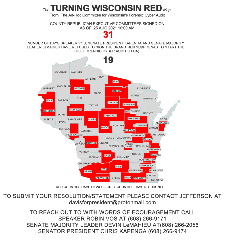 """HUGE DEVELOPMENT: Wisconsin House Speaker Robin Vos Calls for """"CYBER FORENSIC AUDIT"""" of Wisconsin's 2020 Presidential Election Results Turning-Wisconsin-Red-August-25-2021-2"""