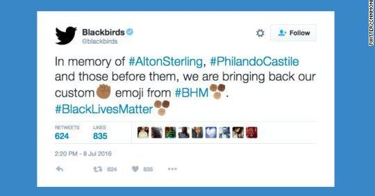 Twitter Black Power Emoji CNN