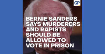 Bernie Sanders Latest Crazy Democrat to Push for Murderers And Rapists To Vote While In Prison (VIDEO)