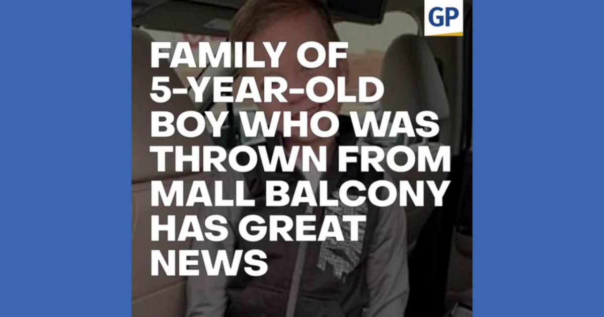 Family Of Boy Who Was Thrown From Mall Balcony Has Great