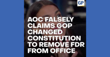 "WATCH: Alexandria Ocasio-Cortez Falsely Claims Republicans Changed Constitution to Remove FDR From Office..""The Scoop"" Video"