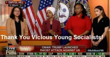 """Hah-Hah! Trump Thanks AOC and """"Vicious Young Socialist Congresswomen"""" for Boosting His Ratings!"""