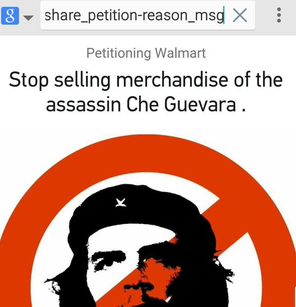 Walmart Che Guevara Change Petition
