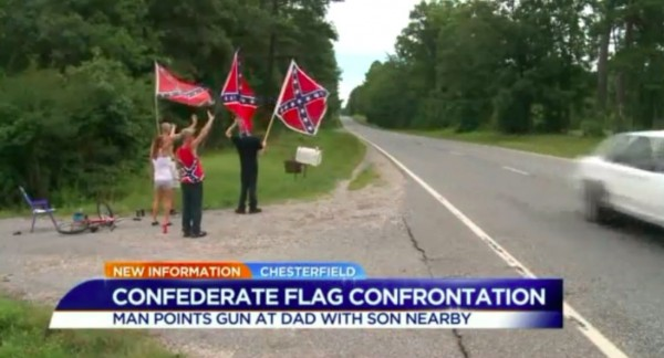 Wilson family Confederate flag Blaze via WTVR