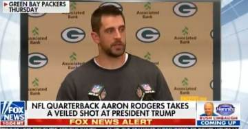 Green Bay QB Aaron Rodgers Trashes Trump – Blames President For NFL Kneelers! (Video)